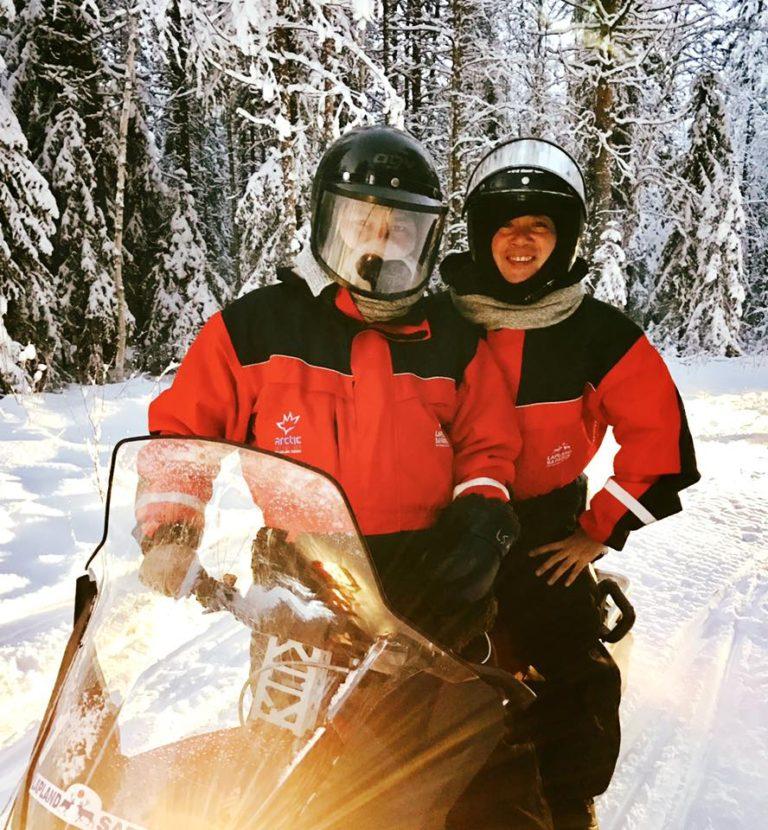 Family Snowmobile Safari