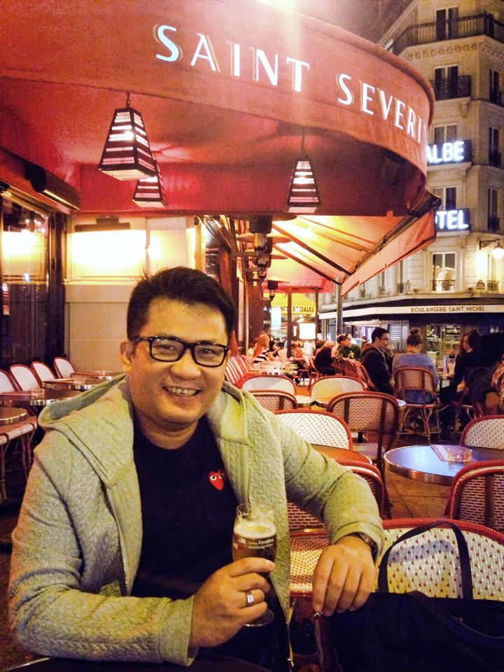 Taking in the nightlife at Saint Germain