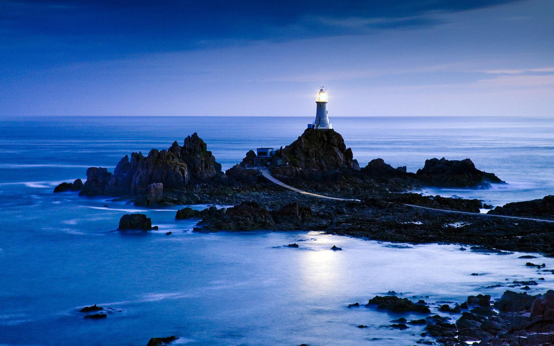 La Corbière Lighthouse, Jersey, Channel Islands, UK
