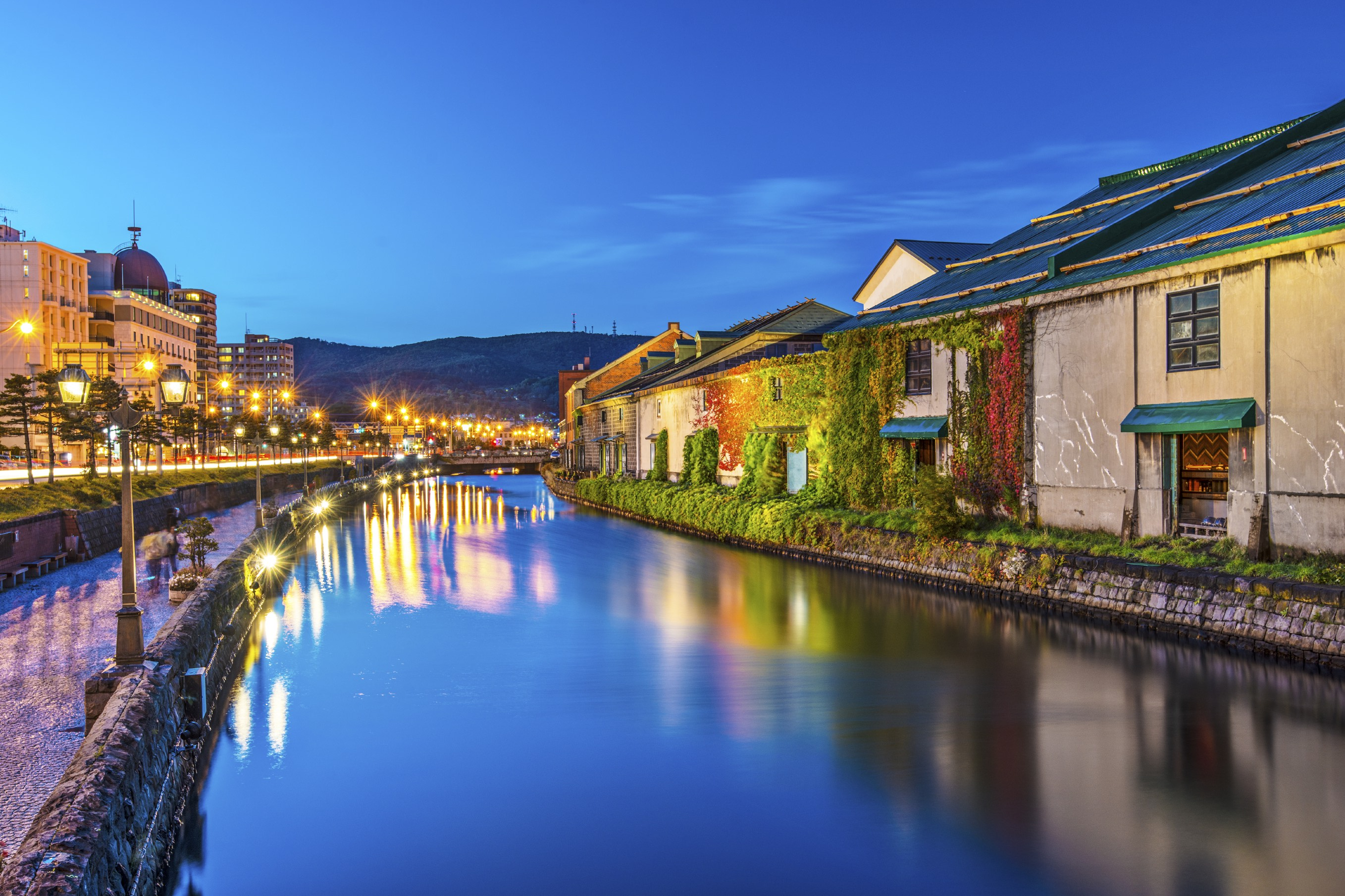 Canals of Otaru, Japan.