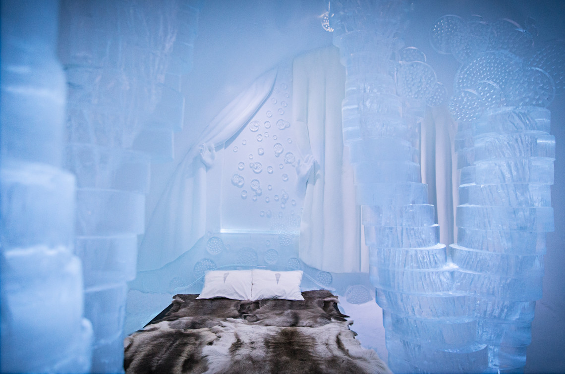 "ART & DESIGN book 2015, ICEHOTEL, iCelebrate25, Suite 303, ""Spring"" design by Willfred Stijger, Edith Van De Wetering."