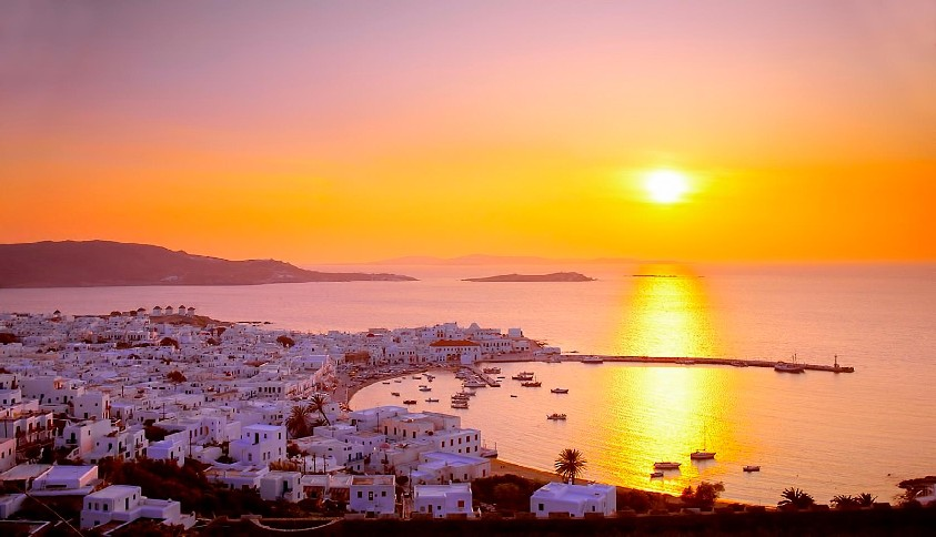 sunset-in-mykonos